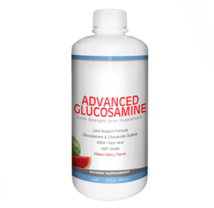 front of bottle for advanced glucosamine