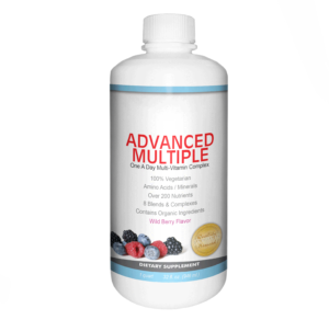 front of advanced multiple bottle