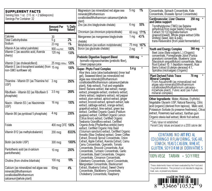 supplement facts label for complete multiple