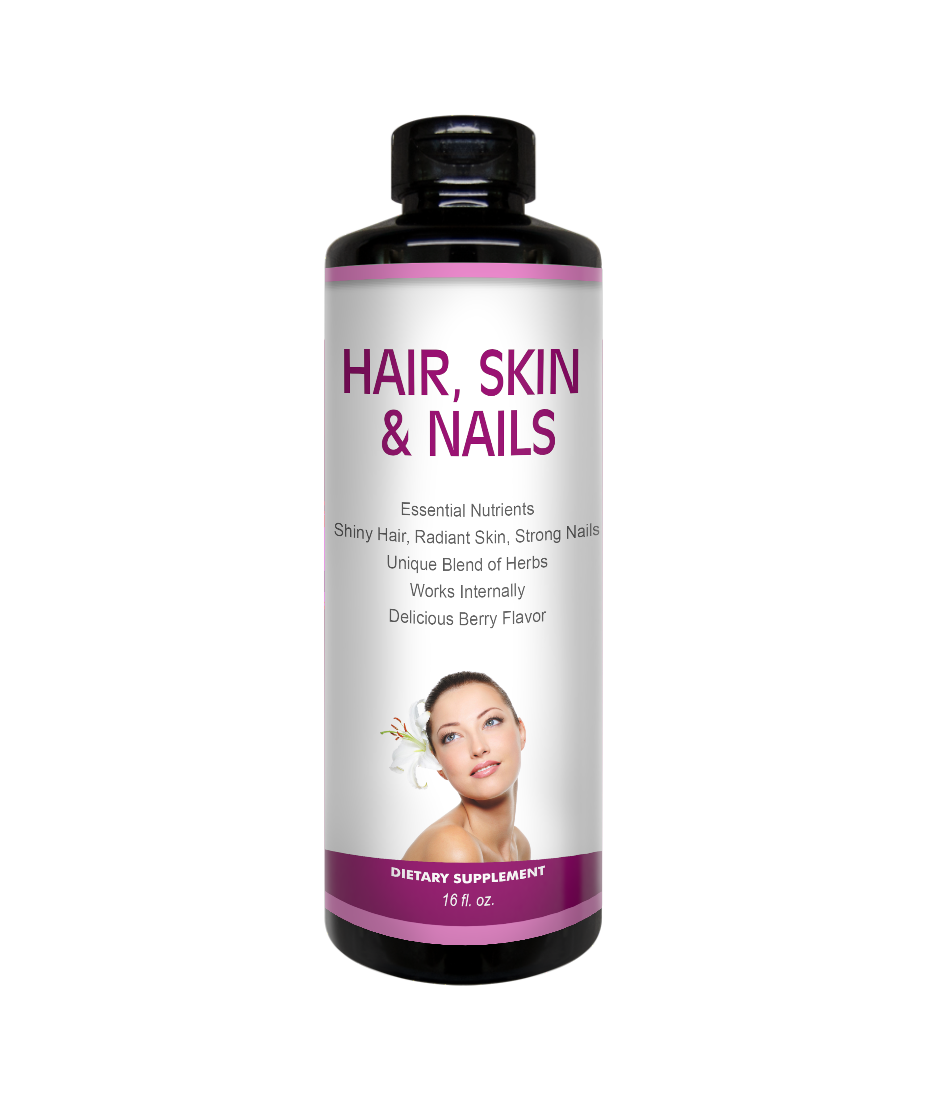hair skin and nails bottle (front)